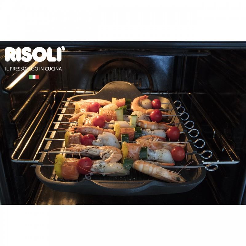 Explora Risoli Επιφάνεια Ψησίματος με ανοξείδωτες σούβλες 47x26εκ